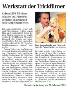 Sächsische Zeitung, 21. 02. 2005